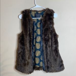 Sanctuary Clothing Faux Fur Brown Vest Small